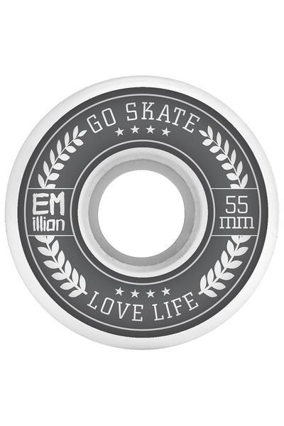 EMillion Go Skate Love Life 55mm Rollen (white) 4er Pack