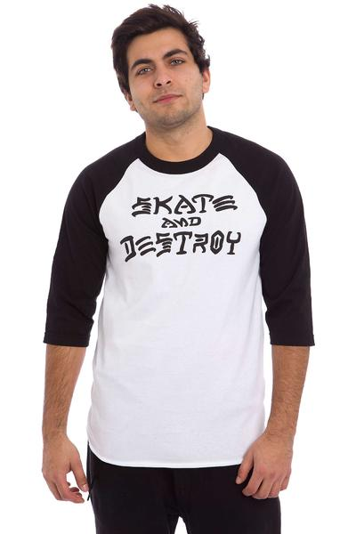 Thrasher Skate & Destroy Longsleeve (white black)