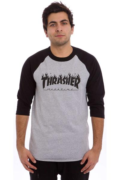 Thrasher Flame Longsleeve (grey black)