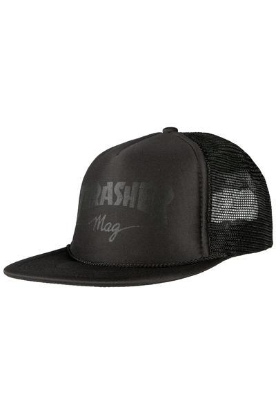Thrasher Magazine Logo Trucker Cap (black black)