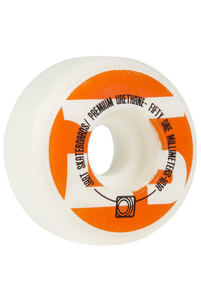 Jart Skateboards Biggie 51mm Rollen (white) 4er Pack