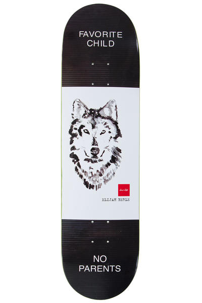 "Chocolate Berle Solitary Animals 8.25"" Deck (white black)"