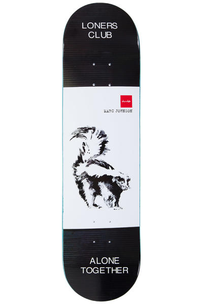 "Chocolate Johnson Solitary Animals 8.125"" Deck (black white)"