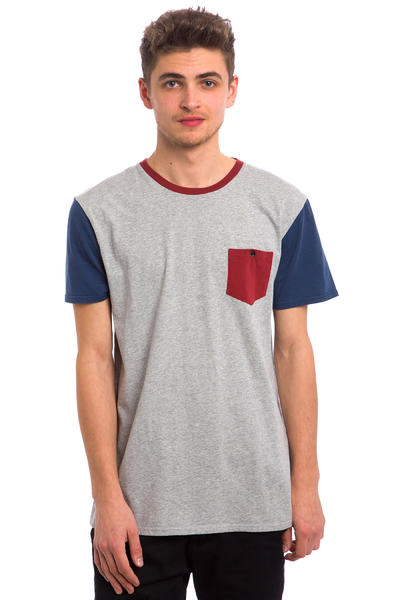 Quiksilver Baysick Pocket T-Shirt (light grey heather)