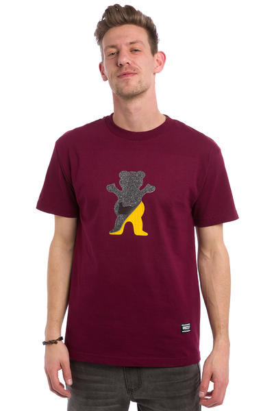 Grizzly Cutout Bear T-Shirt (burgundy)