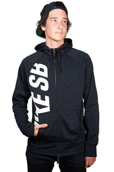 Nike SB Lightweight Everett Dri-FIT Zip-Hoodie (black white)