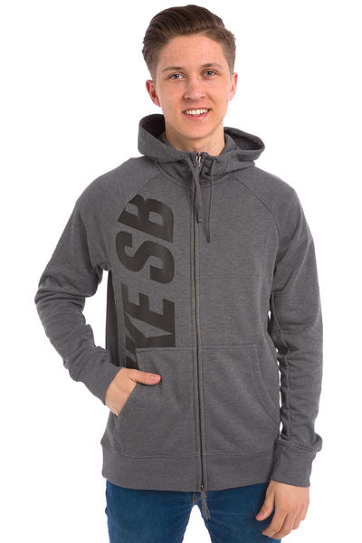 Nike SB Lightweight Everett Dri-FIT Zip-Hoodie (charcoal heather)