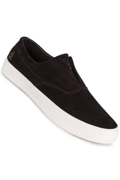 HUF Dylan Slip On Suede Shoe (black white)