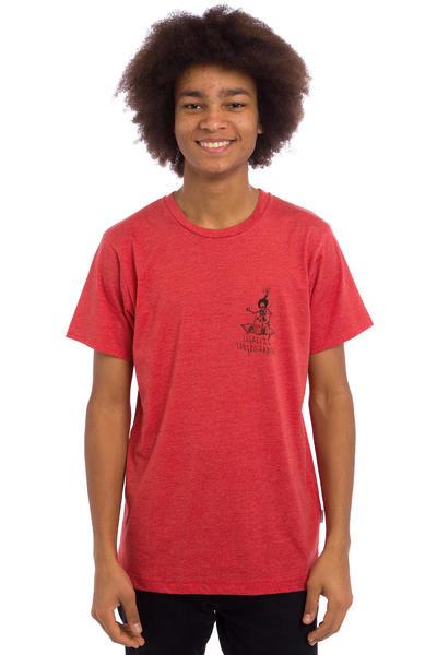 Legalize Longboarding Skulled Camiseta (heather red)