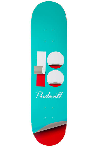 "Plan B Pudwill Wrap 7.75"" Deck (turquoise)"