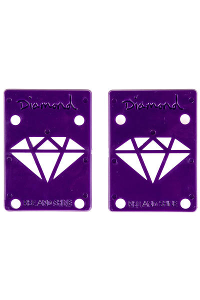 "Diamond 1/8"" Basic Riser Pad (purple) 2er Pack"