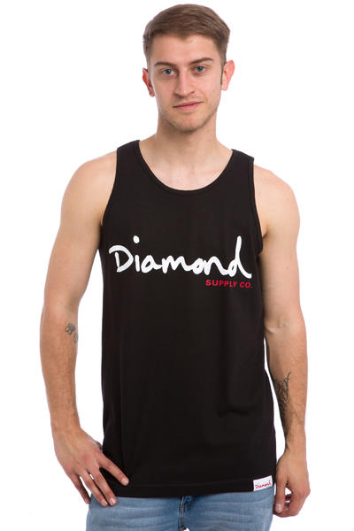 Diamond OG Script Tank-Top (black)