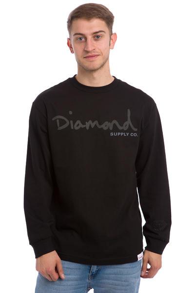 Diamond Tonal OG Script Longsleeve (black)
