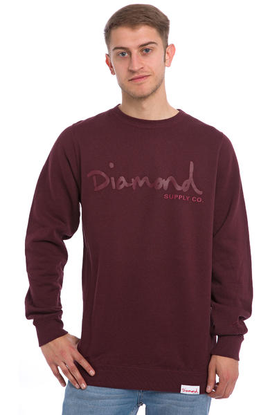 Diamond Tonal OG Script Sweatshirt (burgundy)