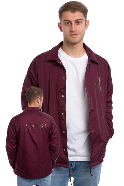 Diamond Tonal Un Polo Coach Jacket (burgundy)