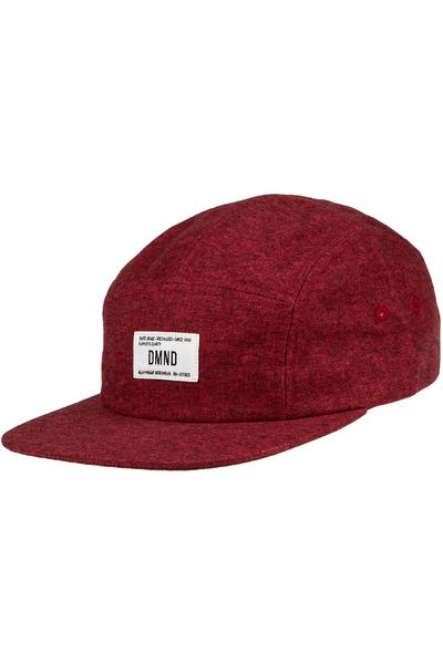 Diamond Herringbone 5 Panel Cap (red)