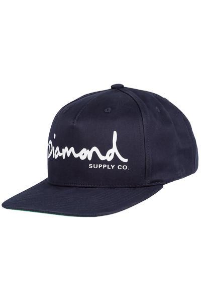 Diamond OG Script Snapback Cap (navy)
