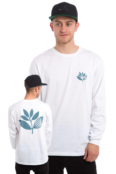 Magenta Plant Longsleeve (white)