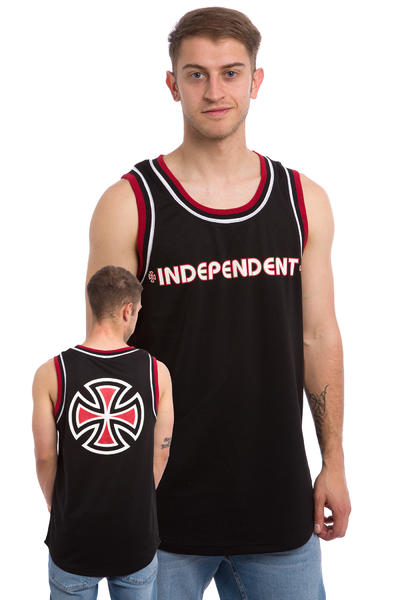 Independent Bar Cross Tank-Top (black)