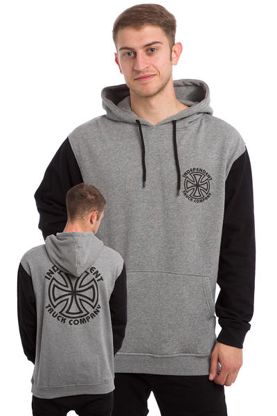 Independent Bauhaus Cross Outline Hoodie (black dark heather)
