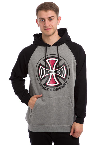 Independent Truck Company Raglan Hoodie (black dark heather)