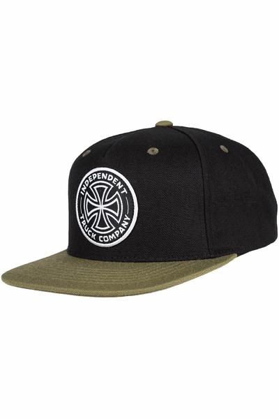 Independent ITC Cross Snapback Cap (black herb)