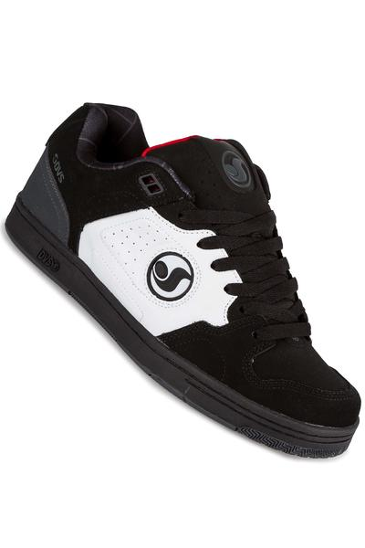 DVS Discord Nubuck Shoe (black white red deegan)