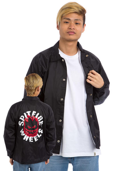 Spitfire Flammable Material Coach Jacke (black)