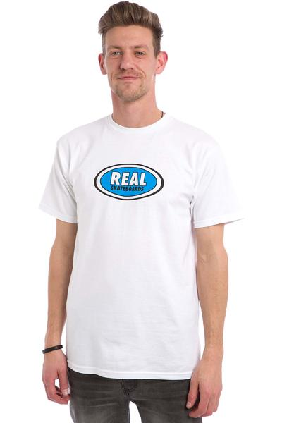 Real OG Oval T-Shirt (white blue)