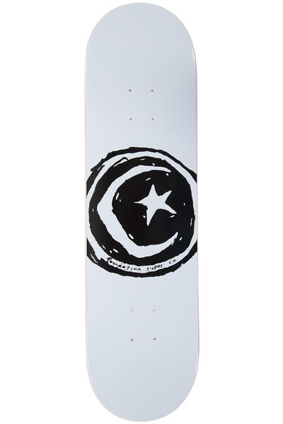 "Foundation Star & Moon 8.25"" Deck (white)"