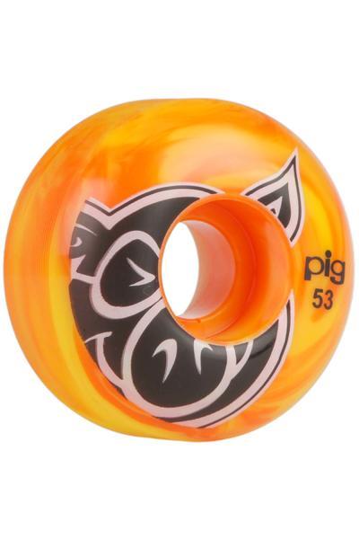 Pig Head Swirls 53mm Rollen (yellow orange) 4er Pack