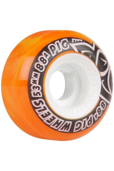 Pig Street Cruiser Swirl 53mm Rueda (yellow orange) Pack de 4