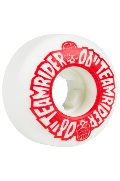 OJ Wheels Team Rider EZ Edge Insaneathane 52mm Wheel (white red) 4 Pack