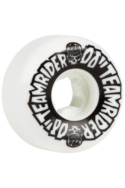OJ Wheels Team Rider Hard Line Insaneathane 53mm Rueda (white black) Pack de 4