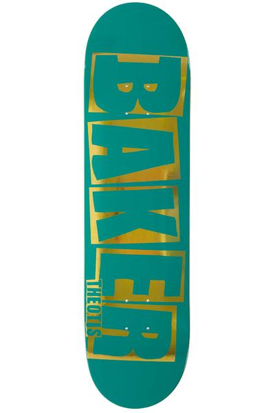 "Baker Beasley Brand Name 8.25"" Deck (teal gold)"