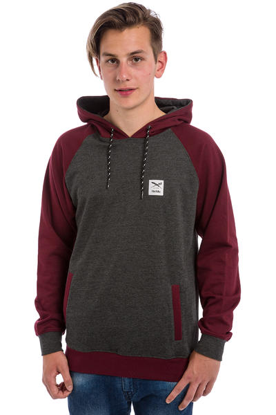 Iriedaily Rugged Hoodie (anthracite red)