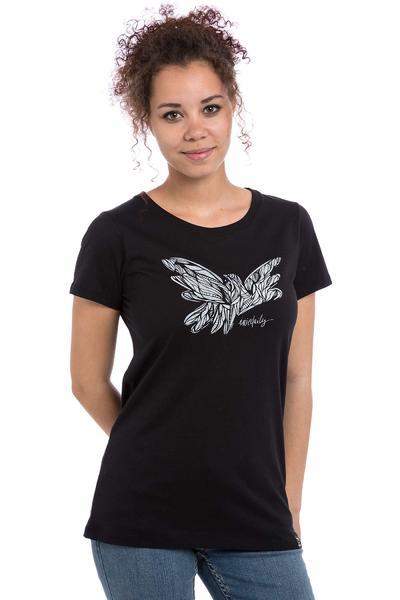 Iriedaily Mosaic Bird T-Shirt women (black)