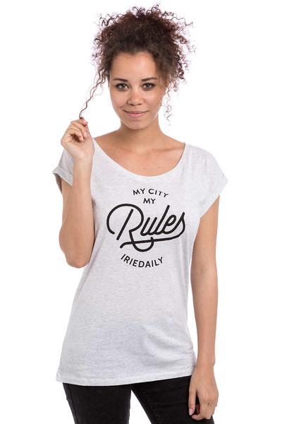 Iriedaily Rules T-Shirt women (white melange)