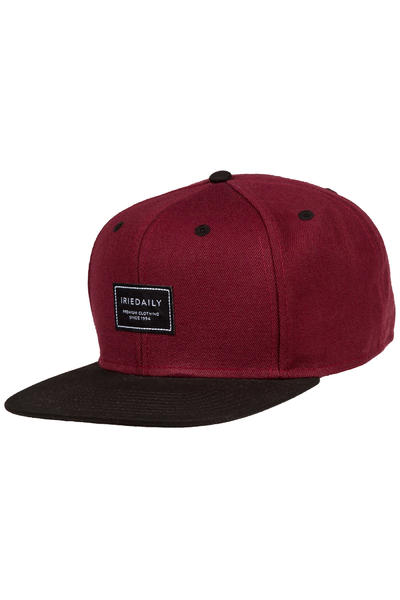 Iriedaily Daily Club Snapback Cap (red wine)