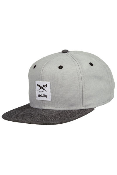 Iriedaily Flag Chambray Snapback Cap (grey melange)