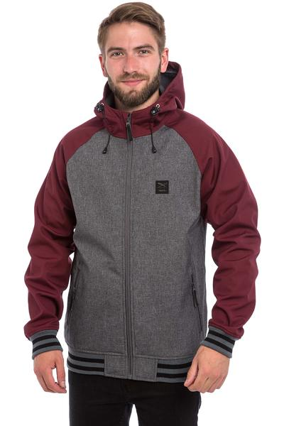 Iriedaily Fusion College Jacket (anthracite red)