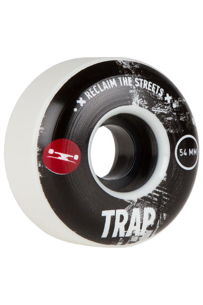 Trap Skateboards Reclaim The Streets 54mm Rollen (white black) 4er Pack