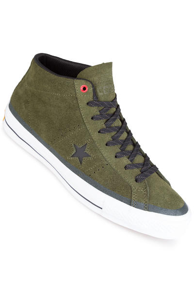 Converse CONS One Star Pro Mid Suede Shoe (herbal black white)