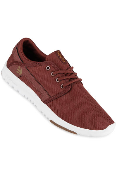 Etnies Scout Shoe women (burgundy tan white)