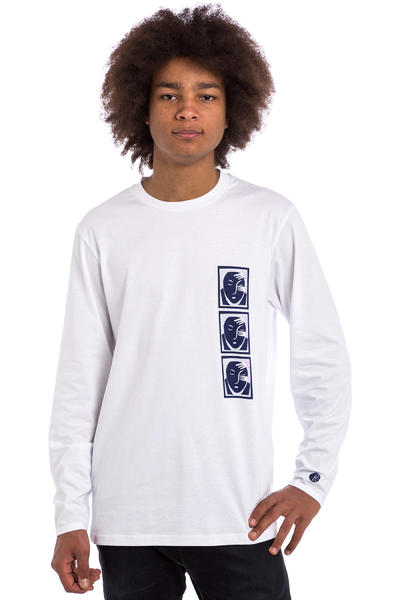 Polar Skateboards Three Faces Longsleeve (white)