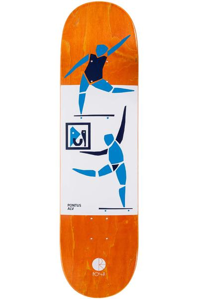 "Polar Skateboards Alv Two Figures One Painting 8.375"" Deck"