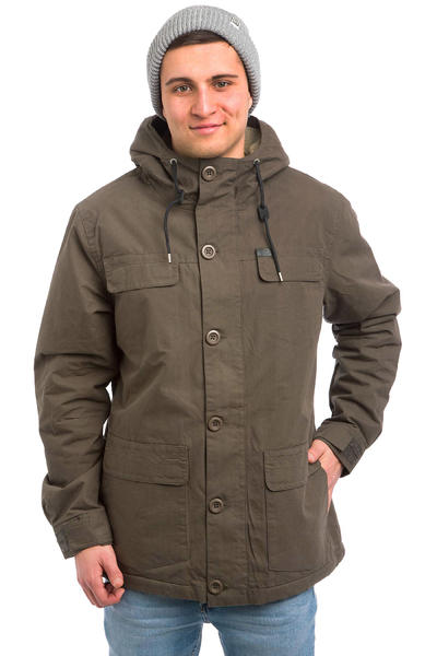 Globe Goodstock Thermal Parka Jacket (dark olive)
