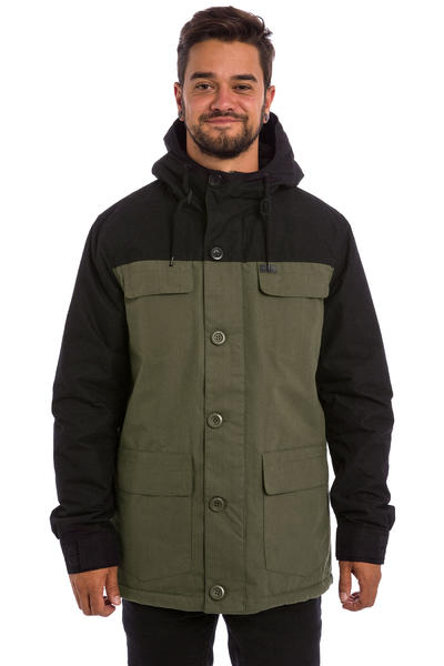 Globe Goodstock Blocked Parka Jacket (dark olive)