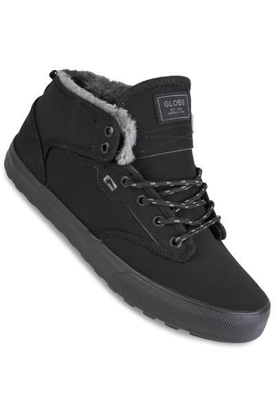 Globe Motley Mid Shoe (black black fur)