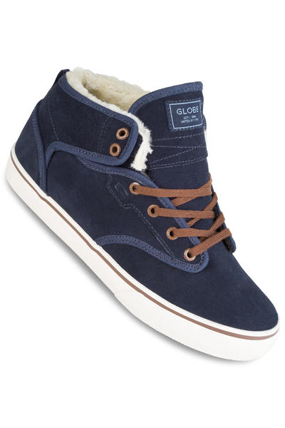 Globe Motley Mid Chaussure (navy brown fur)